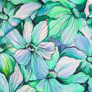 Silk Touch Viskose - Fiore Grande - grün