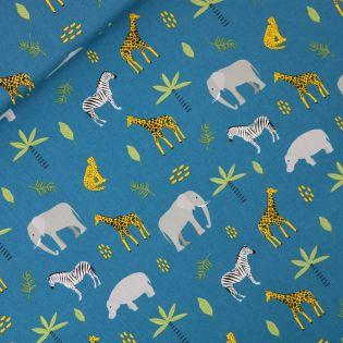 Popeline - Safari - blau