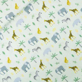 Popeline - Safari - grün