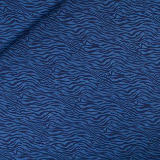 Popeline - Zebra - blau