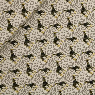 Baumwolljersey - Sauvage-Giraffe - beige