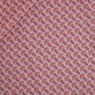 Baumwolle - beschichtet - Flower - rosa