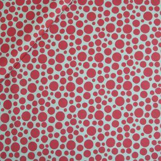 Baumwolle - beschichtet - Pink Dots