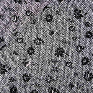 Funktionsstoff-Jersey - Karo-Blüten