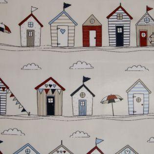 Baumwolle - beschichtet- Strandhäuser
