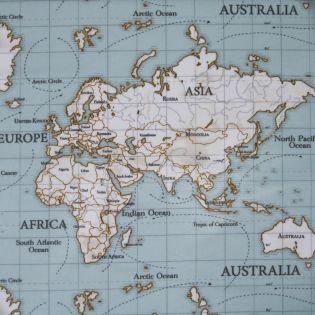 Baumwolle - beschichtet- Landkarte