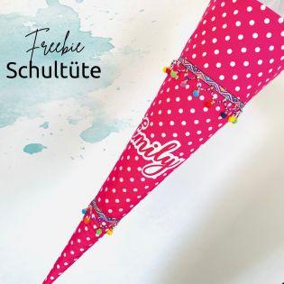 Freebie - Anleitung - Schultüte nähen