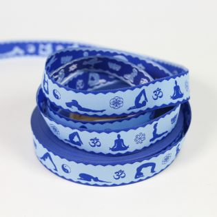Webband - Asana Yoga - blau/hellblau