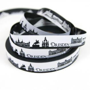 Webband - Skyline Dresden - schwarz/weiß