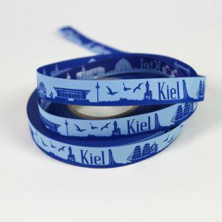 Webband - Skyline Kiel - blau