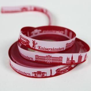 Webband - Skyline Kaiserslautern - rot/weiß