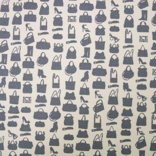 Taschenstoff - Iceberg - 70 x 50 - Handtaschen - grau
