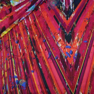 Seidenstretch-Satin - Lovely pink & red
