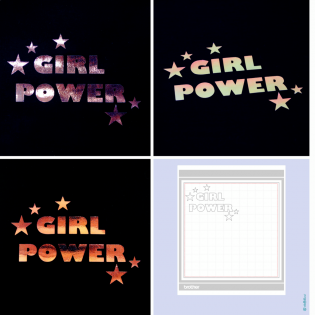Freebie - Girl Power - Brother Plotterdatei