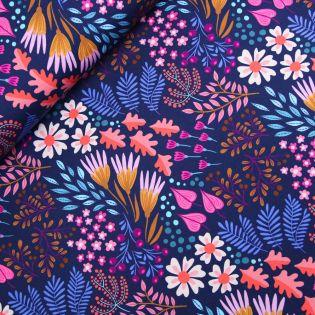 Hamburger Liebe - Bio-Baumwolljersey - Bliss - Flower Field - blau