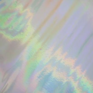 Kunstleder - Zuschnitt - 66 x 45 cm - Holografik - silber