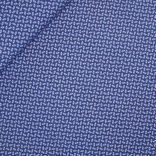 Baumwolle - Ellipse - blau