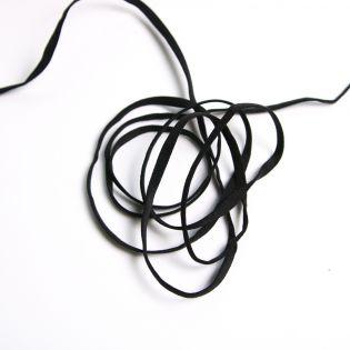 Gummiband - flach - 5mm breit - schwarz