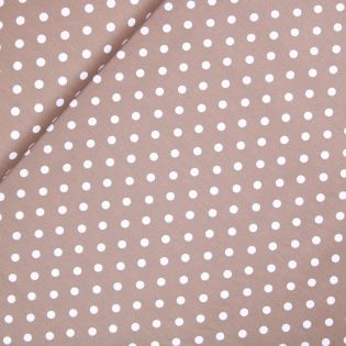 Baumwolle - Dots - taupe