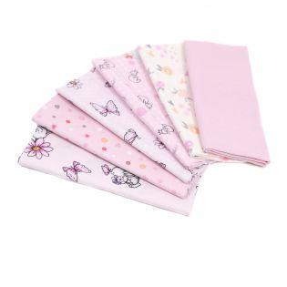 Baumwolle - Kreativpaket - Baby - rosa