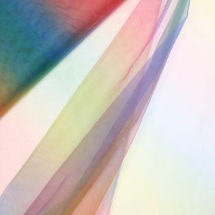 Softtüll - leicht - Regenbogen blau