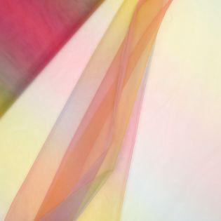 Softtüll - leicht - Regenbogen gelb