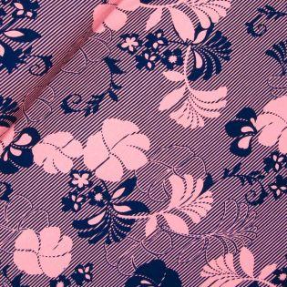 Viskosejersey - Palmenblätter - rosa