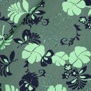 Viskosejersey - Palmenblätter - grün