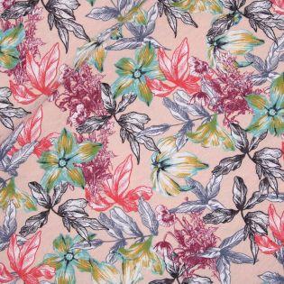 Viskosestretch - Blütenmeer rosa