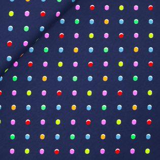 Baumwolljersey - neon Punkte