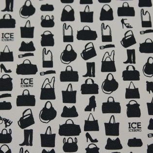 Taschenstoff - Iceberg - Handtaschen - 70 x 50 - woll-weiss
