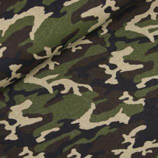 Sweatshirt - Camouflage - grün