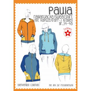 Schnittmuster - Farbenmix - Paula - Raglanjacke / Sweatshirt - Damen