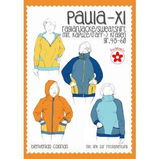 Schnittmuster - Farbenmix - Paula XL - Raglanjacke / Sweatshirt - Damen