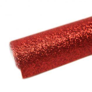 Deko - Glitzerstoff - Zuschnitt - 68 x 45 cm - rot