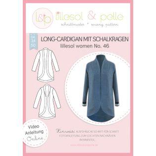 Schnittmuster - Lillesol & Pelle - Women - Long-Cardigan mit Schalkragen