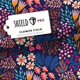 Albstoffe - SHIELD PRO - FlowerFields - blau