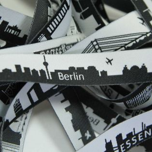 Webband - Skyline Berlin - schwarz/weiß