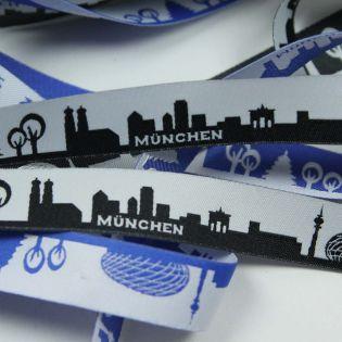 Webband - Skyline München - schwarz/weiß