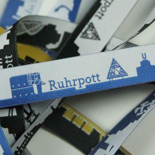 Webband - Skyline Ruhrpott - blau/weiß
