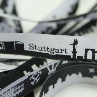 Webband - Skyline Stuttgart - schwarz/weiß