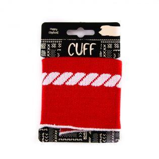 Strickbündchen - Cuff - Maritim - Seil - rot-weiß