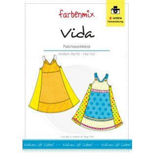 Schnittmuster - Farbenmix - Vida - Patchworkkleid - Kids