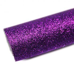 Deko - Glitzerstoff - Zuschnitt - 68 x 45 cm - violett