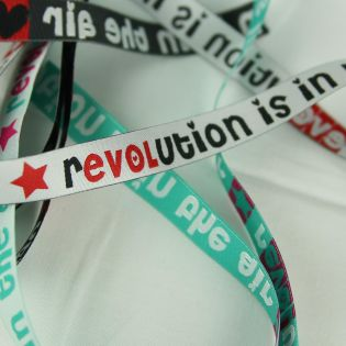 Webband - Revolution is in the air - weiß