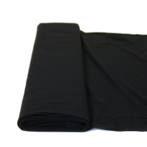 Baumwolljersey - Premium - uni - schwarz