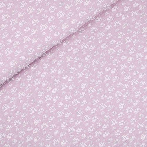 Musselin - Double Gauze - Regenbogen - rosa