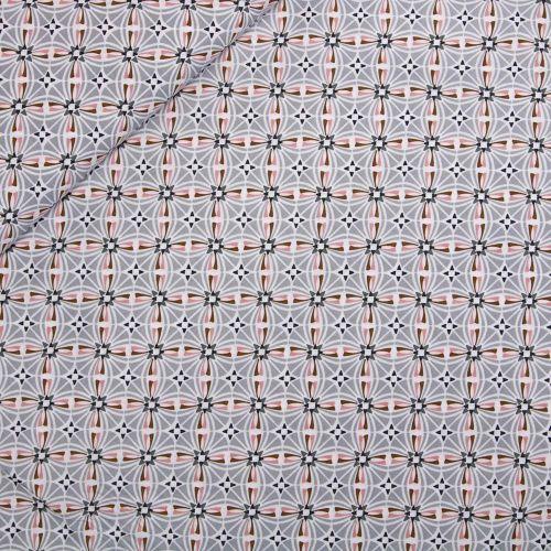 Baumwolle - Kaleidoskop - grau