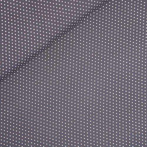Viskose - kleine Punkte - dunkelgrau