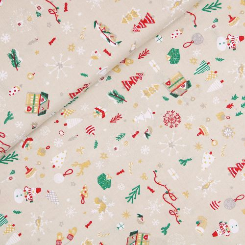 Baumwolle - Weihnachten - Winterzauber - creme